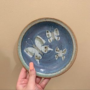 Vintage ceramic butterfly plate